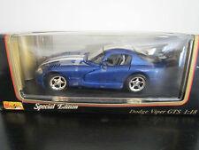 MAISTO 1:18 DODGE VIPER GTS 1996 NEUF EN BOITE SPECIAL EDITION