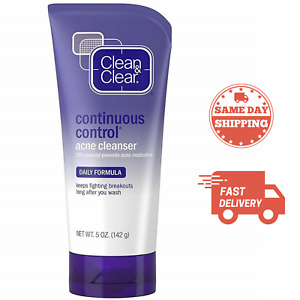 Clean & Clear Continuous Control Face Acne Wash 5 oz - OXY 10% Benzoyl Peroxide