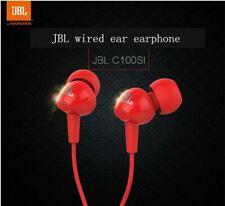 JBL C100Si 3.5mm Wired Stereo Music Earphones Deep Bass HIFI Sports Headset