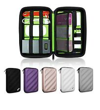Universal Hard Cover Electronics Accessory Storage Case for Hard Drive, SD Card