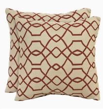 Sunbrella 2-Pack Folio Terracotta Texture Square Outdoor Decorative Pillow 16X16