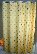 "PALM FLORAL SHOWER CURTAIN 72"" WIDE X 77"" LONG WITH BUILT IN HOOKS FOR HANGING"
