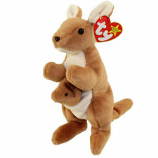 Ty Beanie Baby 1996 Pouch Kangaroo 1995 Twigs The Giraffe & 1993 Quackers Duck