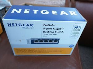 NETGEAR GS105V4 UK 5 Port Wall Mountable Gigabit Ethernet Switch