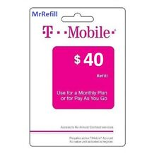 T-Mobile $40 Refill - fast & right