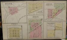 Iowa Crawford County Map Boyer Arion Aspinwall Kiron  1908 Dbl Pg  L12#82