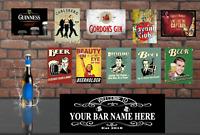 Home Bar Starter Kit pub shed mancave personalised bar signs gift xmas free P&P