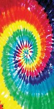 "Tie Dye Towel Hippie Spiral Beach Pool Lake Souvenir 30""x60"""