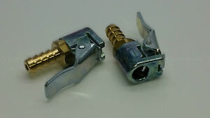 Genuine Schrader Euro Clip On Tyre Valve Connector 7mm Hose Tail Pack of 2