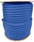Anchor Rope Dock Line 38 X 50 Double Braided 100 Nylon Royal Made In Usa