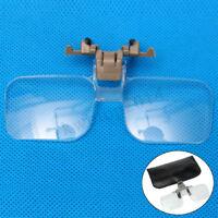 Loupe Eyeglass Lens Folding Magnifying Glasses Clip On Precise Magnifier Flip !