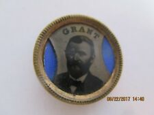 """1868 METAL PIN PICTURE 5/8"""" US GRANT FOR PRESIDENT UNLISTED"""