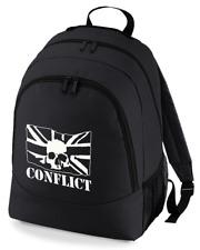 Conflict Skull Punk Rock Band backpack rucksack bag