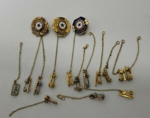 large lot American Legion pins including 10k gold