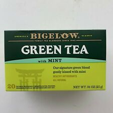 NEW Bigelow Green Tea MINT 20 BAGS Never Opened Antioxidants All Natural