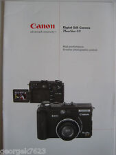 Canon Powershot G5 digital camera sales brochure - 12 pages - 2001