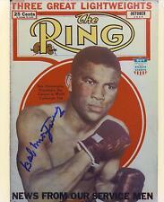 Bob Montgomery signed b&w boxing photo 1919-1988