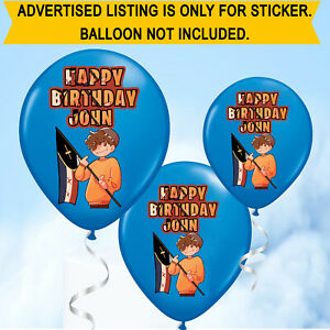 Personalised Birthday Wilbur Soot Youtuber Classic Balloon Stickers