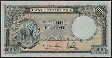 Indonesia 1000 rupiah 1957, VF+, Pick 53 / H-245b