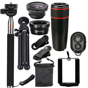8X All in 1 Accessories Phone Camera Lens Top Travel Kit For iPhone Samsung H1H2