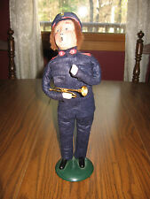 """Byers Choice Caroler Salvation Army Man with Coronet 13"""" 1993"""