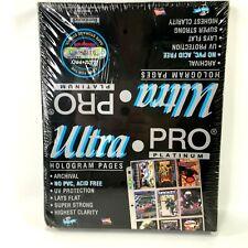 Ultra Pro Platinum Hologram Pages Sealed Box 100 Pages 9 Pocket Cards