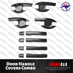 Door Handle Covers Combo Trim Matte Black to suit Isuzu MU-X MUX 2014 - 2019
