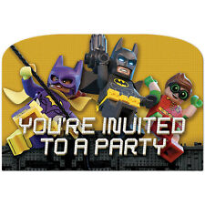 Pack of 8 Amscan Lego Batman Birthday Party Post Card Invitation