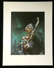 """""""Lilandra"""" by Julie Bell 1993 11 x 14  Matted Print Fantasy SCI-FI"""