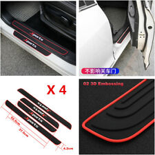 4Pcs/set Sports Car Door Scuff Plate Sill Cover Panel Step Protector Accessories