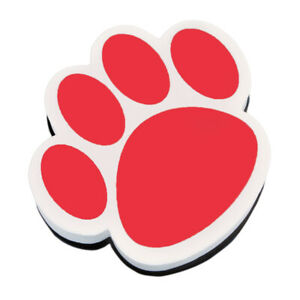ASHLEY PRODUCTIONS MAGNETIC WHITEBOARD ERASER RED PAW