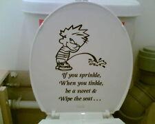 Sprinkle toilet sticker,HOUSE,GARDEN,TOILETSEAT,CAR,VAN,CARAVAN,TRUCK,DECAL