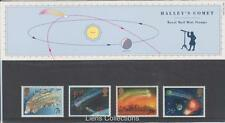 GB 1986 Halley's Comet presentación Pack 168 SG 1312 1315 conjunto de sello de menta