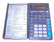 Texas Instruments TI-30 Stat Calculator w/ Cover & Reference Card TESTED WORKS !