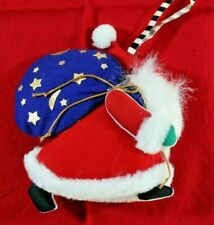 Mary Engelbreit Soft Fabric 'Believe' Santa Christmas Ornament