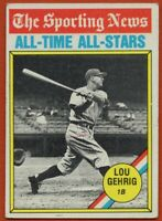 1976 Topps #341 Lou Gehrig VG-VGEX New York Yankees FREE SHIPPING