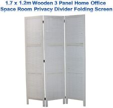 1.7 x 1.2m Wooden 3 Panel Home Office Space Room Privacy Divider Folding Screen