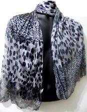 Brown Orange Pink Blue Leopard Zebra Striped Cheetah Spots Fashion Scarf