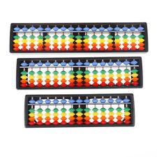 Portable 13/15/17 Column Abacus Arithmetic Soroban School Math Learning Tool