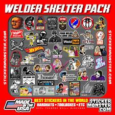 WELDER SKELTER PACK 40+ Hard Hat Stickers HardHat Sticker & Decals, Welding Hood