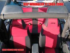 2003-2006 Jeep Wrangler TJ Custom Red Seat Covers - Coverking CR-Grade Neoprene