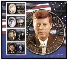 US President JFK / JOHN FITZGERALD KENNEDY 4v MNH Stamp Sheet (2003 Tobago Cays)