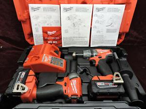 Milwaukee 2897-22 M18 Fuel 2-Tool Combo Kit - Impact (2753-20) Drill (2704-20)