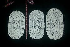 Antique Handmade Lace Table Doilies Matching Set Lot 9
