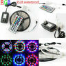 5M 3528 SMD RGB LED Indoor /Ooutdoor Flexible Strip Light +Remote+Power Supply