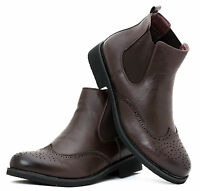 New Men's Casual Formal Desert Ankle Brogue Boots Shoes UK Size 6 7 8 9 10 11