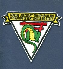 MAG-16 MARINE AIR GROUP 16 REAR Desert Shield USMC MARINE CORPS Squadron Patch