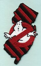 New Jersey State - Embroidered Ghostbusters No Ghost Iron-On Patch