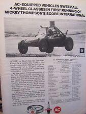 "1973 AC Mickey Thomson's International Original Print Ad 8.5 x 10.5"""