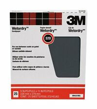 3M Pro-Pak Wetordry Between Finish Coats Sanding Sheets, 320A-Grit, 9-Inch by 11